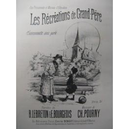 POURNY Charles Les Récréations Chant Piano XIXe