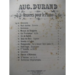 DURAND Auguste Valse n° 1 Piano 1880