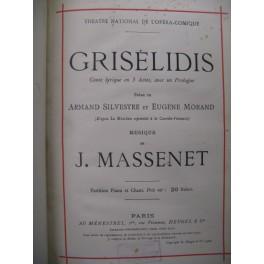 MASSENET Jules Grisélidis Chant Piano 1901