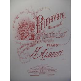 ALBERTI H. Primevère Piano ca1885
