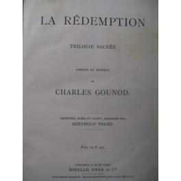 GOUNOD Charles La Rédemption Chant Piano XIXe