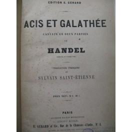 HAENDEL G. F. Acis et Galathée Chant Piano 1866