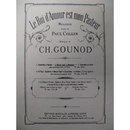 GOUNOD Charles Le Roi d'Amour Chant Piano 1946