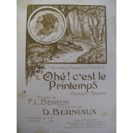 BERNIAUX D. Ohé ! C'est le Printemps Chant Piano 1908