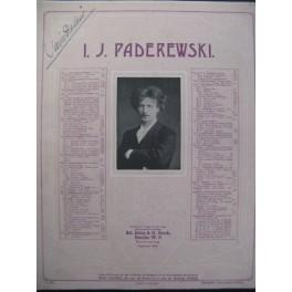PADAREWSKI I. J. Menuet Piano 1888