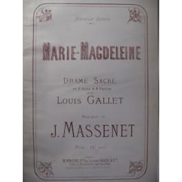 MASSENET Jules Marie-Magdeleine Chant Piano 1892