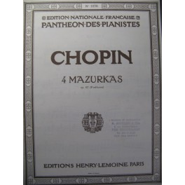 CHOPIN Frédéric 4 Mazurkas Piano