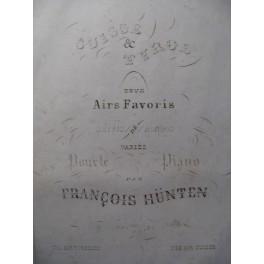 HÜNTEN François Air Tyrolien Piano ca1840