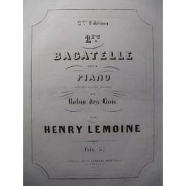 LEMOINE Henry 1ère Bagatelle Piano 1853
