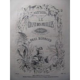 BERNARD Paul Le Chant des Feuilles Piano 1857
