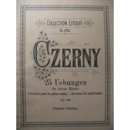 CZERNY Carl 25 Uebungen op. 748 Piano