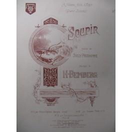 BEMBERG H. Soupir Chant Piano 1892