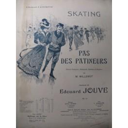 JOUVE Edouard Pas des Patineurs Piano Danse 1897