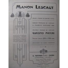 PUCCINI Giacomo Manon Lescault Opera 1905