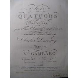 GAMBARO Vincenzo 3 Quatuors Flute Clarinette ca1810