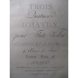 HAYDN Joseph 3 Quatuors Flute Violon ca1800