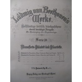 BEETHOVEN Quintett & Quartett op. 16 ca1860