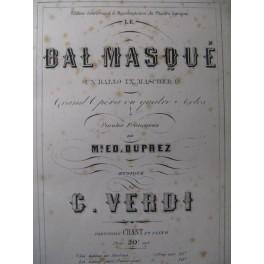 VERDI Giuseppe Le Bal Masqué Opéra 1865