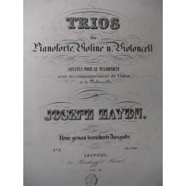 HAYDN Joseph Trio n° 1 à 25 Piano Violon Violoncelle ca1850