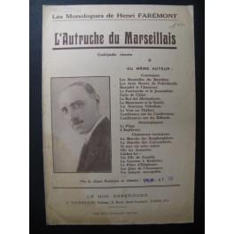L'Autruche du Marseillais Galéjade rimée