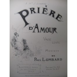LOMBARD Paul Prière d'Amour Piano