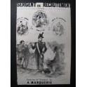 MARQUERIE A. Sergent de Recrutement Guitare Chant ca1840
