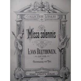 BEETHOVEN Missa Solemnis Chant Piano