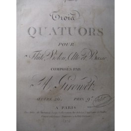 GYROWETZ Adalbert 3 Quatuors Flute Violon XVIIIe