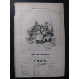 MASINI F. La Petite Chanteuse Chant Guitare ca1830