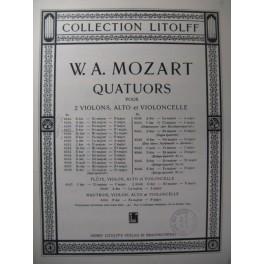 MOZART W. A. Quatuor n° 4 B dur Violon Alto Violoncelle