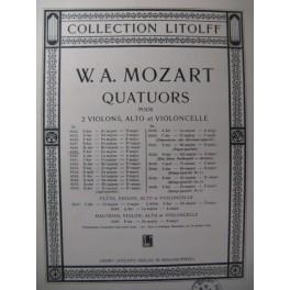 MOZART W. A. Quatuor n° 6 F dur Violon Alto Violoncelle