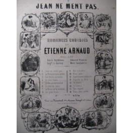 ARNAUD Etienne Jean ne ment pas Chant Piano 1850