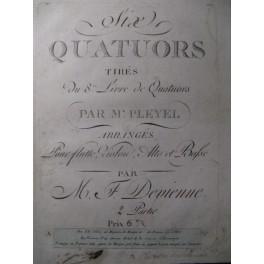 DEVIENNE Quatuors Pleyel Flute Violon 1790