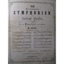 HAYDN Joseph Symphonien Piano 4 mains XIXe
