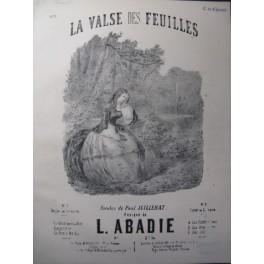 ABADIE Louis La Valse des Feuilles Chant Piano XIXe