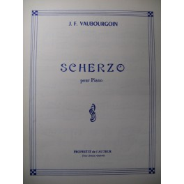 VAUBOURGOIN J. F. Scherzo Piano