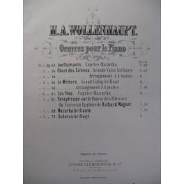 WOLLENHAUPT H. A. Scherzo Brillant Piano 1868