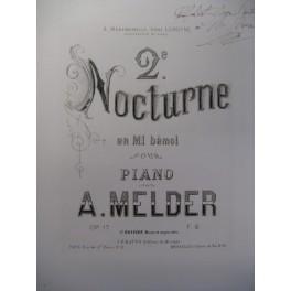 MELDER A. 2e Nocturne Mib Piano XIXe