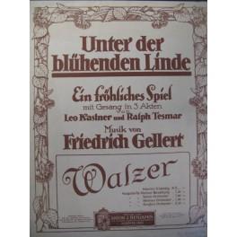 GELLERT Friedrich Unter der Blühenden Linde Piano 1915