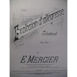 MERCIER E. Explosion d'allégresse Piano 1892