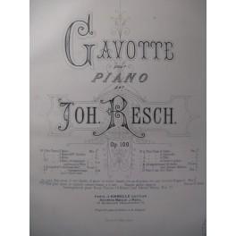RESCH Joh. Au Soir Gavotte Chant Piano 1880