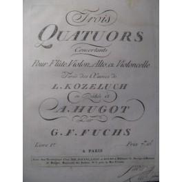 FUCHS G. F. 3 Quatuors Flute Violon ca1810
