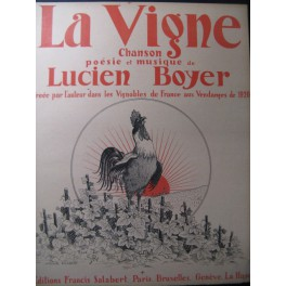BOYER Lucien La Vigne Chant Piano 1920