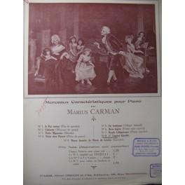 CARMAN M. Caprice Gavotte Piano