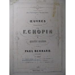 CHOPIN Frédéric Marche Funèbre Piano 4 mains ca1867