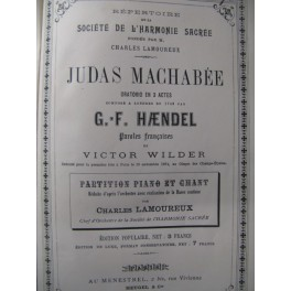 HAENDEL G. F. Judas Machabée Chant Piano