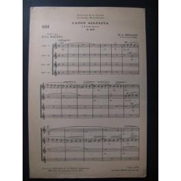 MOZART W. A. Canon Alleluia Chant