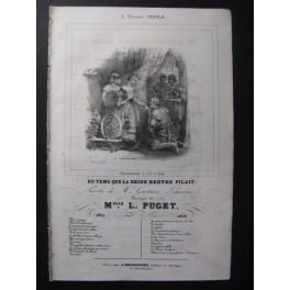PUGET Loïsa Du Temps que la Reine Chant Guitare 1838