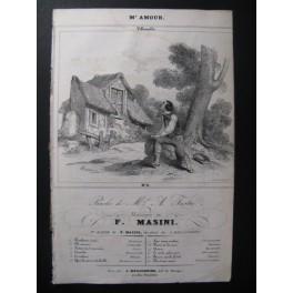 MASINI F. M'amour Chant Guitare ca1830
