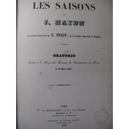 HAYDN Joseph Les Saisons Opera 1862